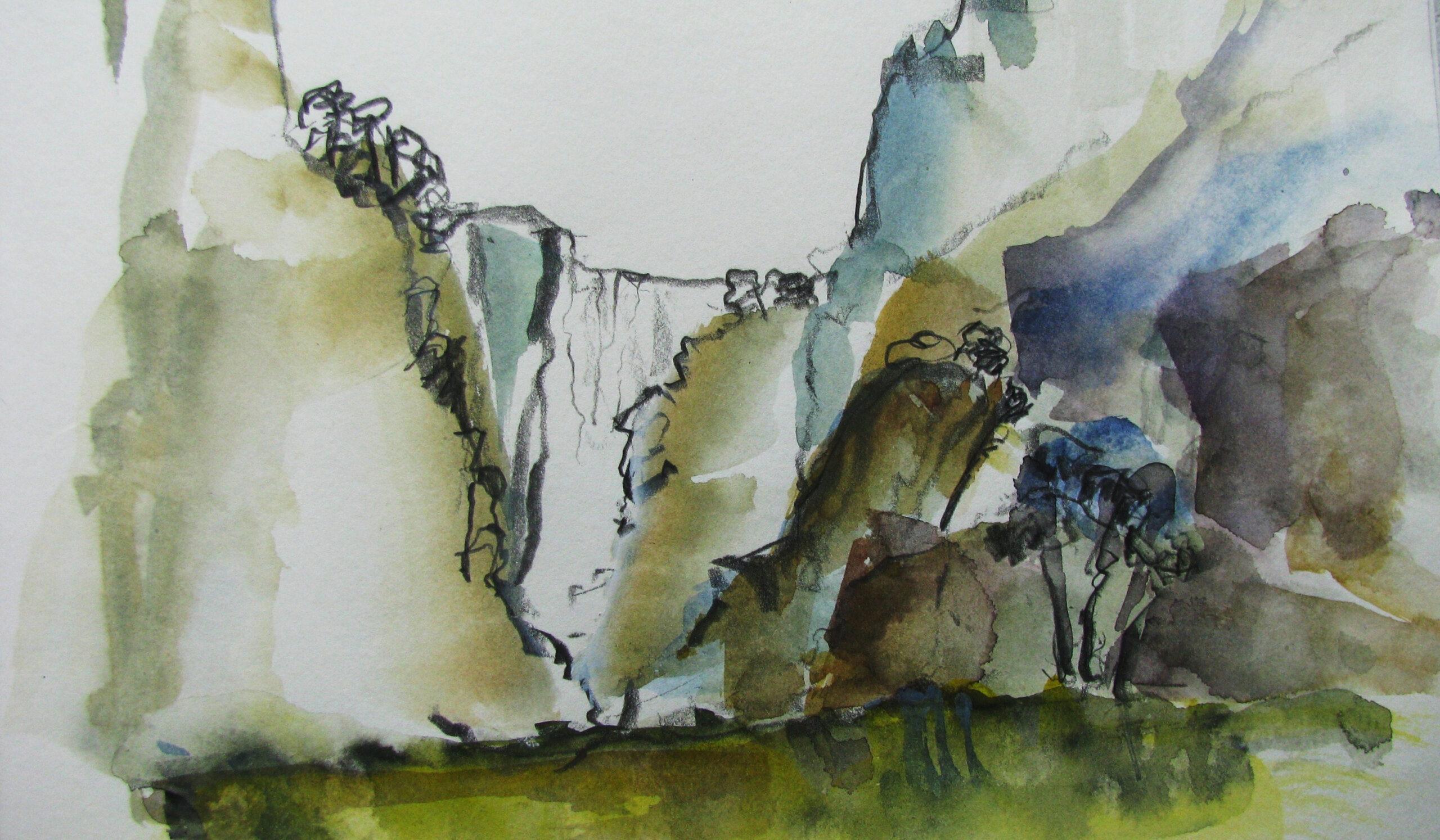 Aquarell, 40 x 30 cm (Ausschnitt)