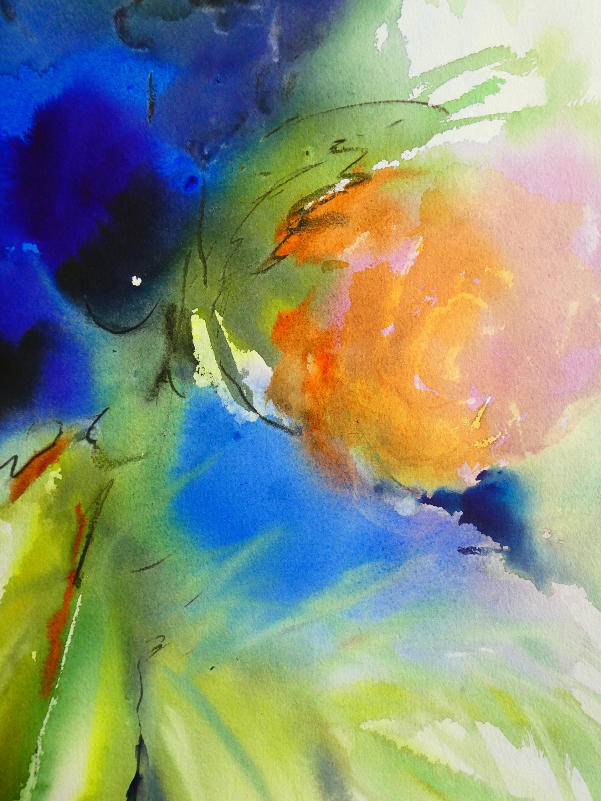 Aquarell, 60 x 80 cm (Ausschnitt)