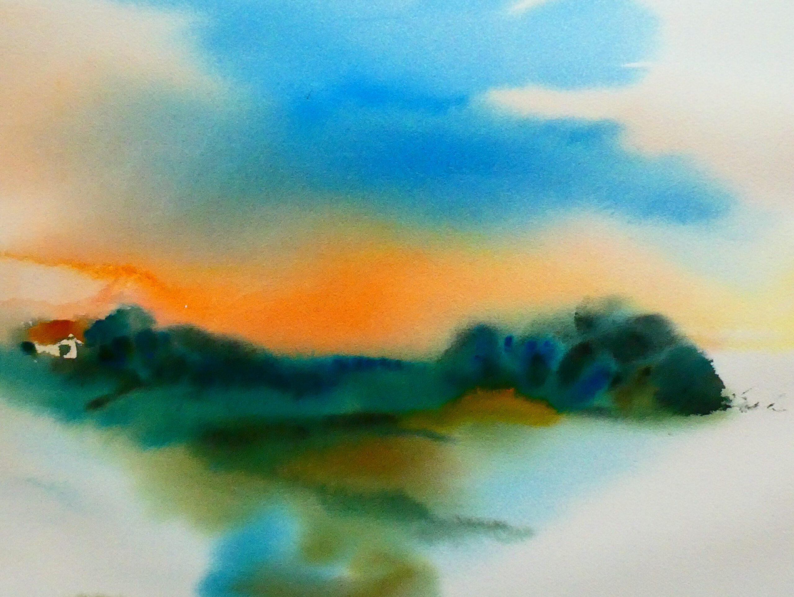 Aquarell, 80 x 60 cm