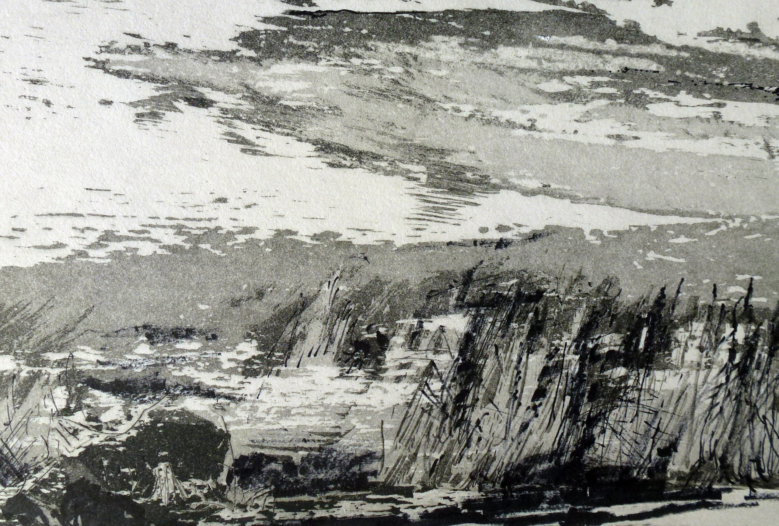 Radierung, 50 x 40 cm (Ausschnitt)