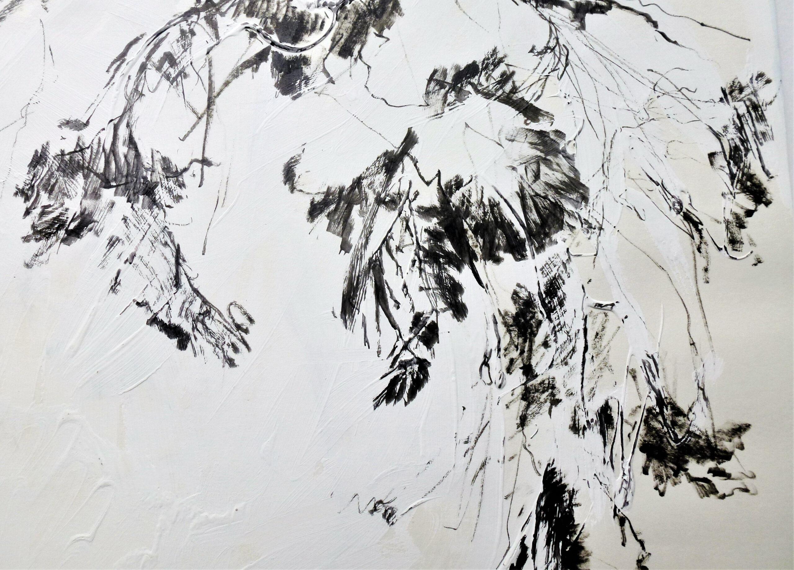 Tusche und Kreide, 30 x 30 cm (Ausschnitt)