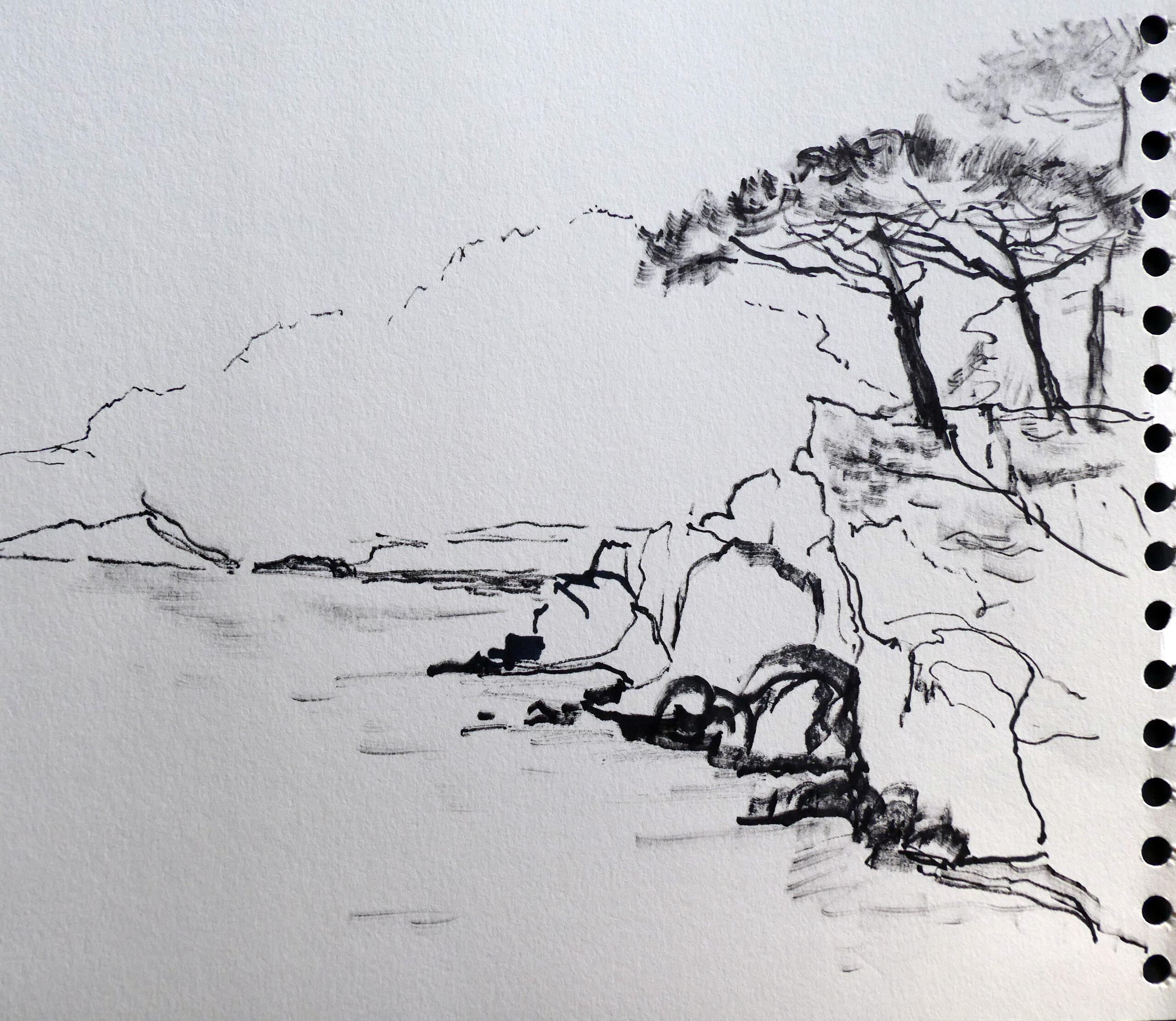 Aquarellstift, 25 x 25 cm